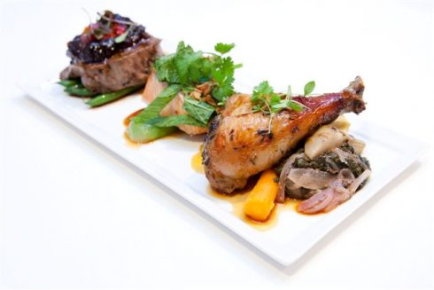 Dinner Menu For Events - Asiette Style