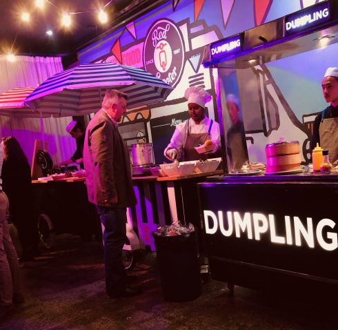 Food Cart Menu For Events - Dumplings