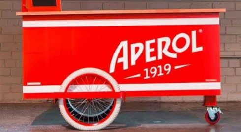 Aperol Drinks Cart For Events
