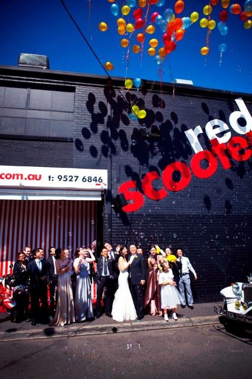 Wedding Ceremony with Wow Factor  Venue Melbourne - Red Scooter Unique Events Venue