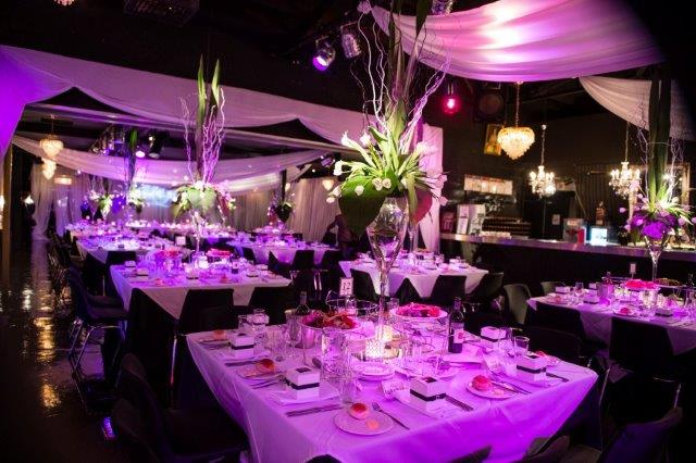 Wedding Reception Centrepieces  Venue Melbourne - Red Scooter Unique Events Venue